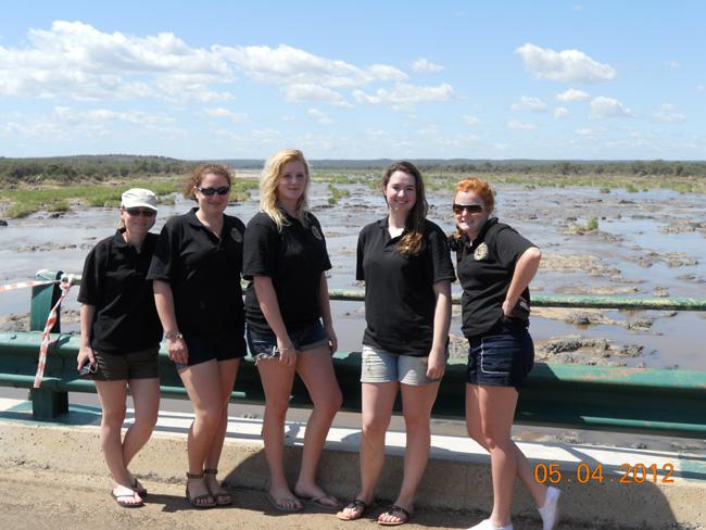 Students on The Olifants Brug at Kruger National Park