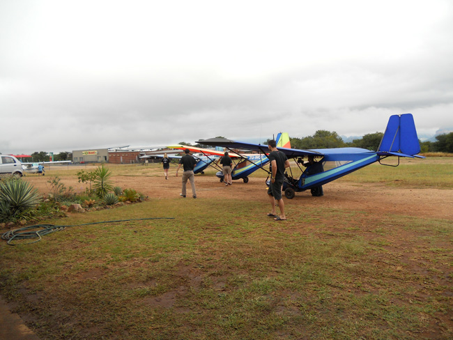 The micro light flights in Hoedspruit