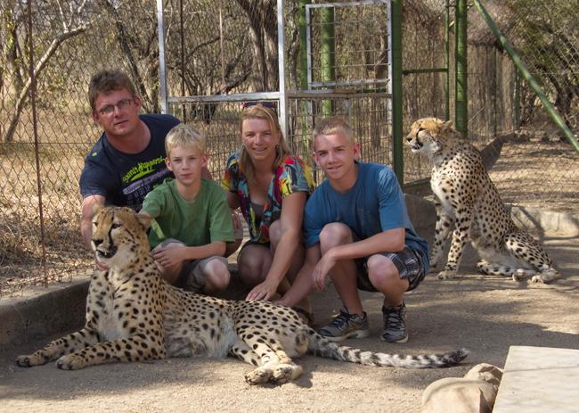 The van Laarhoven family with Crunchie