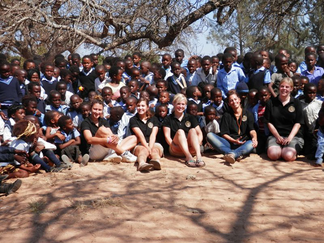 Students at Paulos Ngobeni Primary School