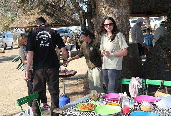 Making breakfast at the Kruger National Park