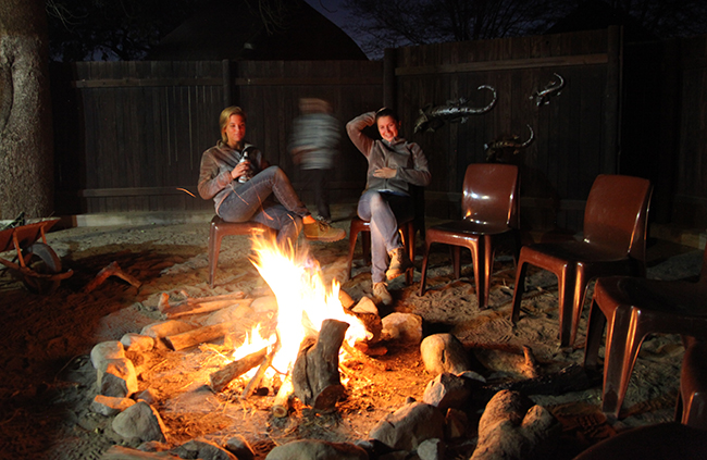 Sitting around the campfire