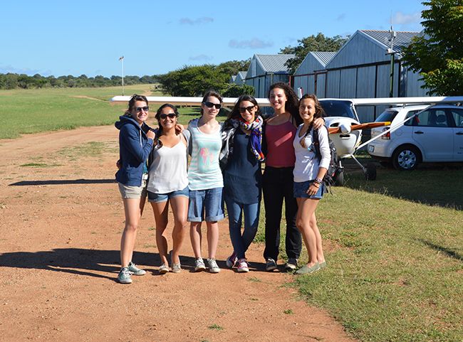 Students at the micro light flights