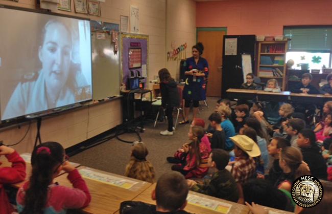 Skype interaction with US school