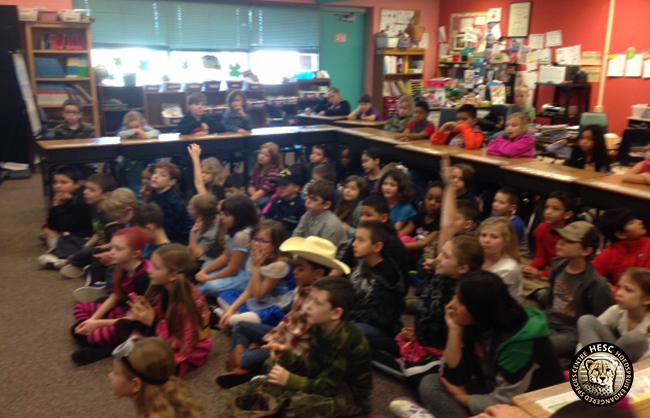 Skype interaction with Queens Creek school