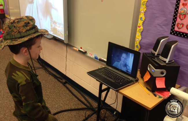HESC Skype interaction with Queens Creek school