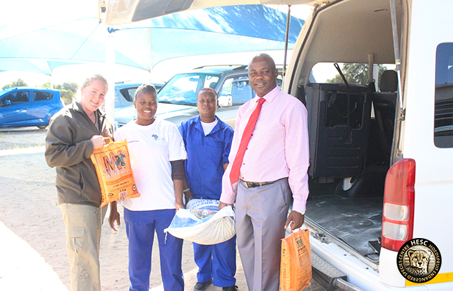 Lumukisa Principal Dannyboy Marobela with Amukelani & Thembi.