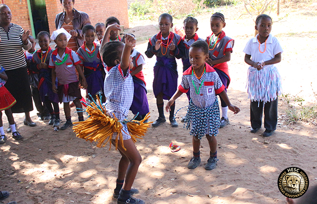 Lumukisa primary school learners dancing and singing