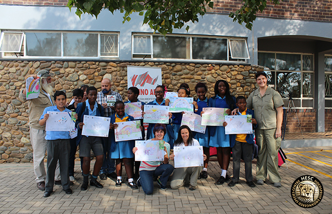 HESC Rhino Art School Visit