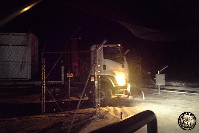2- Ike the rhino arrives at HESC