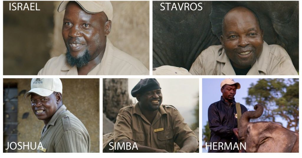 Five Dedicated Elephant Carers at HESC