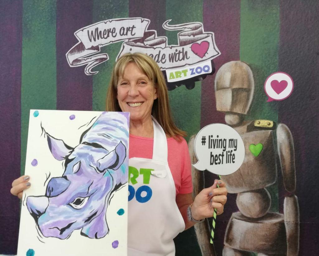 Art Zoo & Raising Rhinos Paint A Rhino